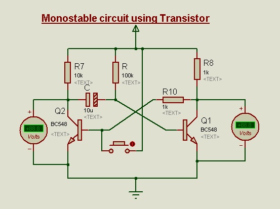 Circuit diagram for Mono-stable latch