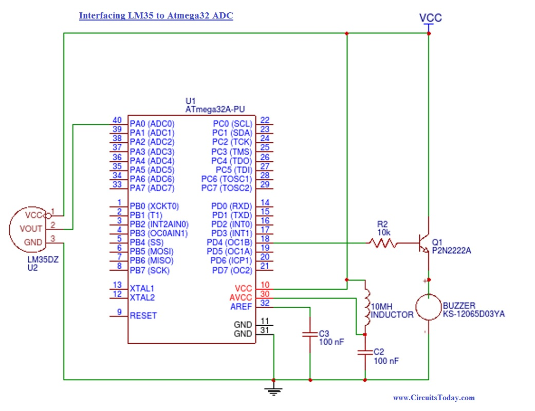 How To Use Adcanalog Digital Converter In Avr Buzzer A Circuit Diagram