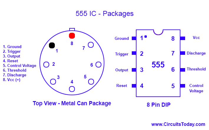 555 Timer IC Packages