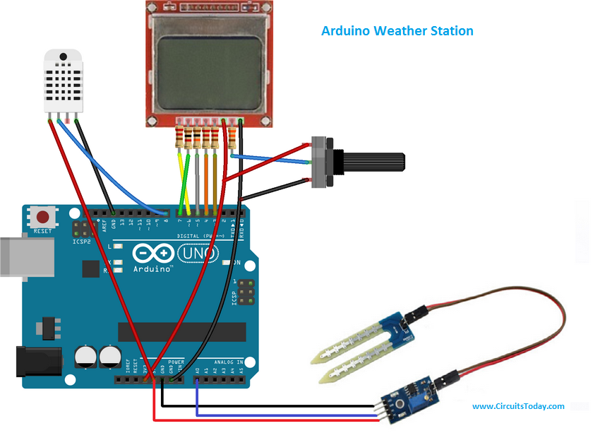 Weather station using Arduino