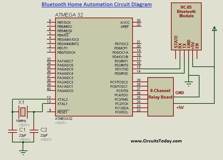 Home Automation Circuit Diagram
