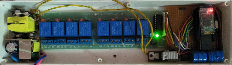 Home Automation Circuit using AVR and Bluetooth Module