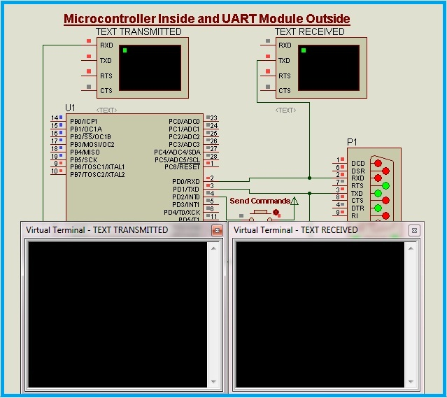 Interfacing UART Module With A Virtual Microcontroller