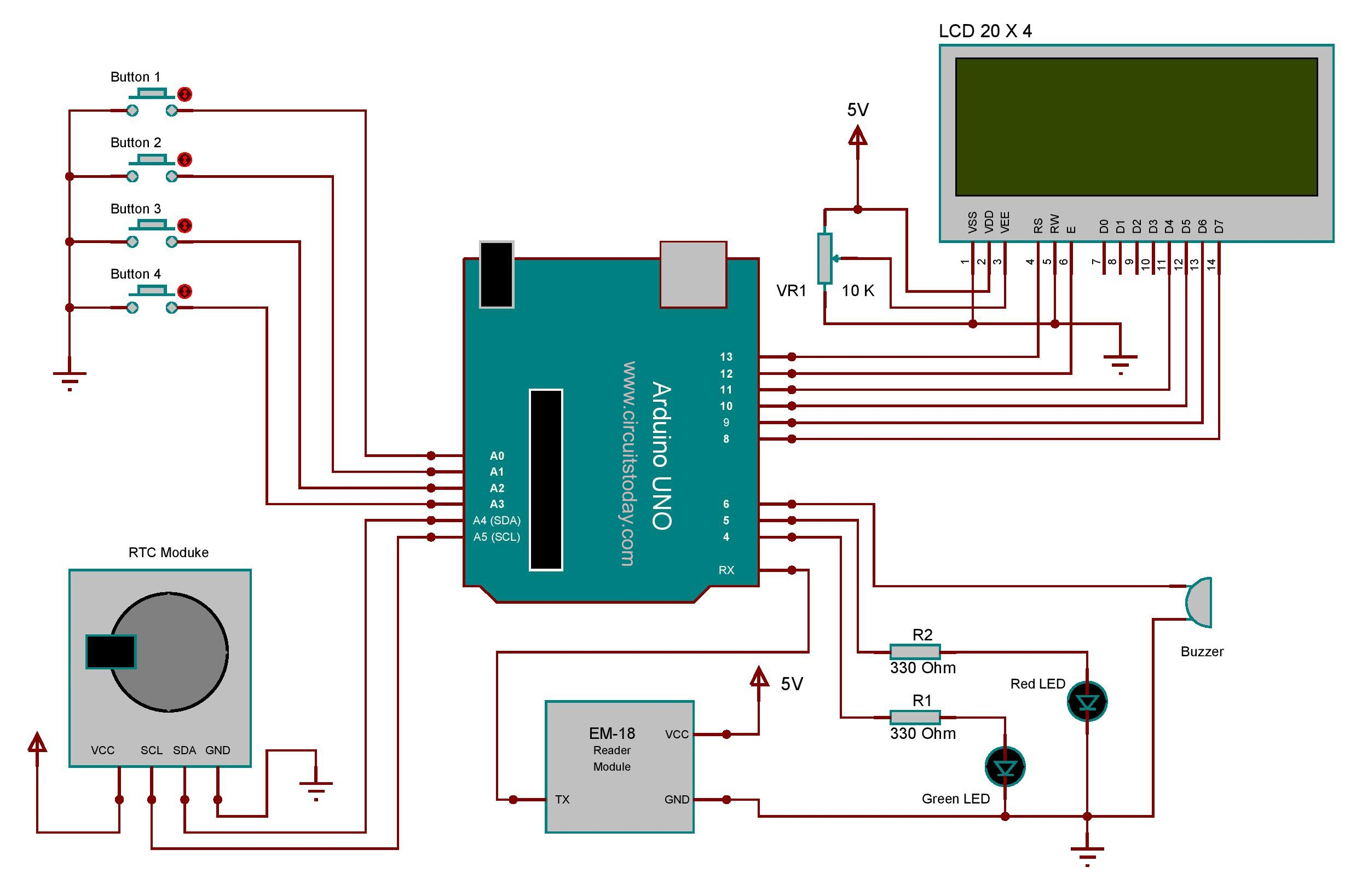 Rfid Based Attendance System Learn To Build Yourself Arduino Real Time Clock Shield Schematic Using