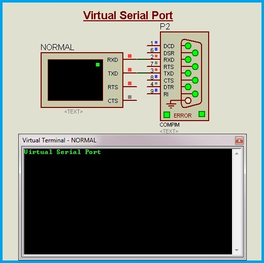 Virtual COM PORT circuit connection