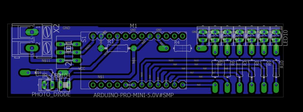 PCB Layout Rotating LED