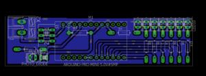 PCB Layout Rotating LED