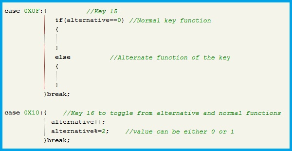 Program for Alternate Key Function