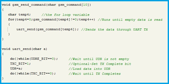 Function Definitions for Sending Commands
