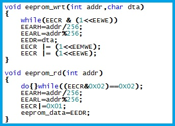 GSM Relay Control - Code to Read Write of EEPROM Data
