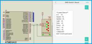 GSM Relay Control - Loads ON OFF Status template