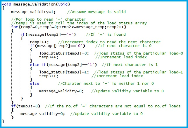 GSM Relay Control - Reading the load control request and message validation