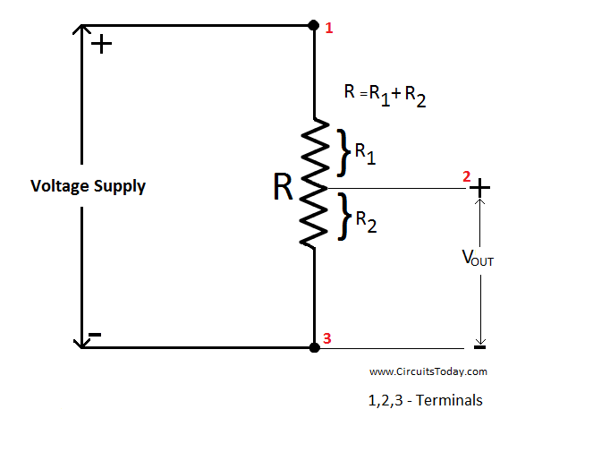 potentiometer working, circuit diagram, construction \u0026 typespotentiometer circuit diagram