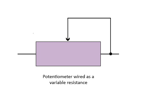 Potentiometer Wired as a Variable Resistance