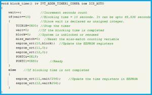 Program Code - Secured Blocking Under Reset Situations