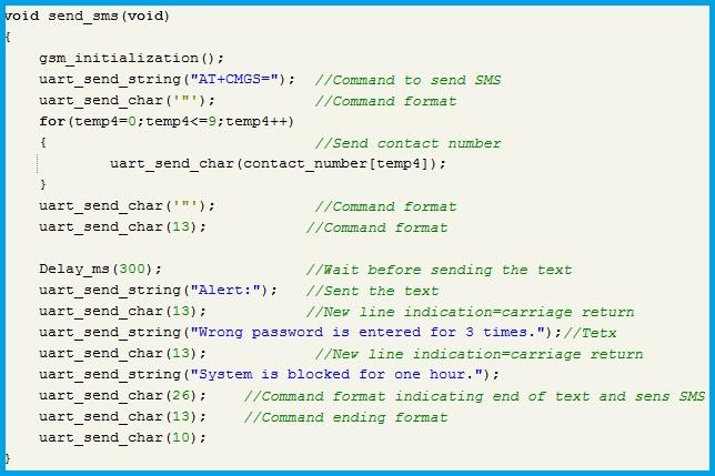 Program Code - Send SMS