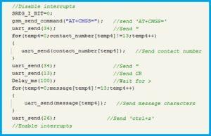 Program Snippet For Sending SMS