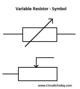 Variable Resistor - Symbol