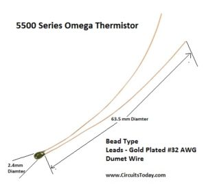 5500 Series Omega Thermistor