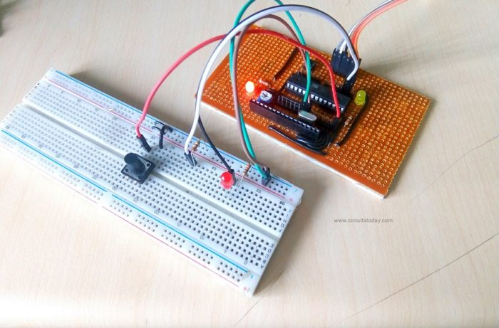 Control Two LED using Push button switch