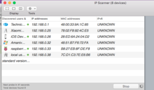 Find new static IP in IP Scanner