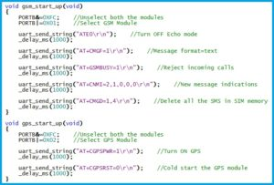 GPS-GSM Module - Startup Functions
