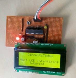 Interface LCD Module with AVR in 4-Bit Mode