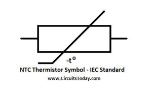 NTC Thermistor Symbol