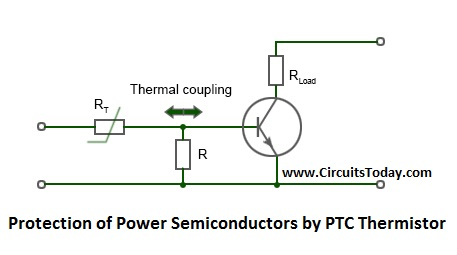 Protection of Power Semiconductors by a PTC Thermistor Limit Temperature Sensor