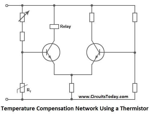 Temperature Compensation Network Using Thermistor
