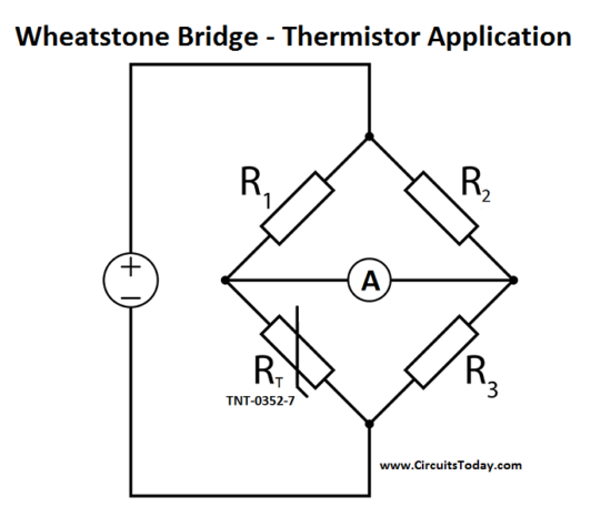 Wheatstone Bridge - Thermistor Application