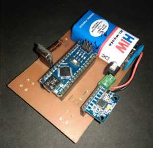 Air Mouse Circuit Using Arduino & Accelerometer