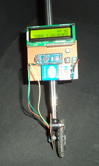 DIY: Measuring Wheel/Surveyor's Wheel Using Arduino & Rotary