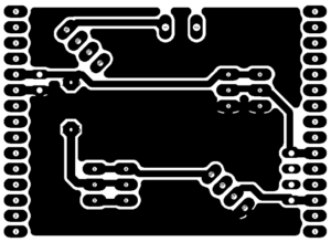 Gesture Controlled Mouse - Receiver Circuit - PCB Design
