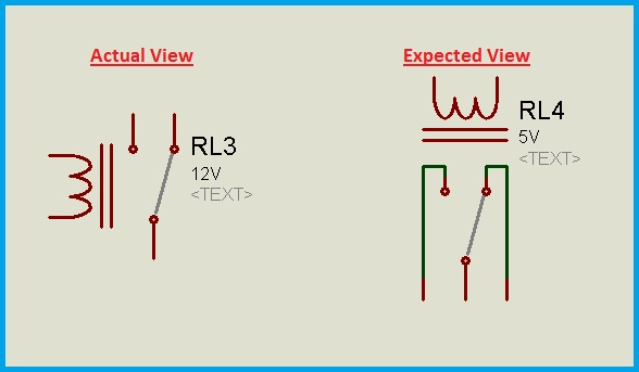 Actual and expected views of a relay