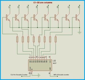 Decade Counter Circuit Connections