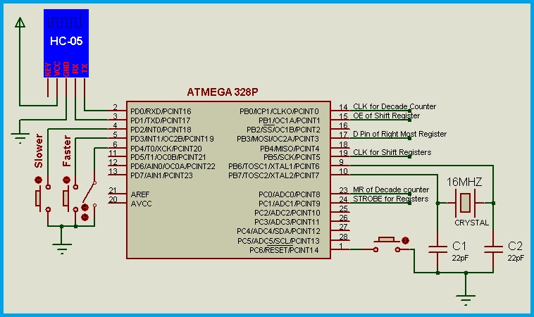 Programmable LED Message Board - Circuit Diagram
