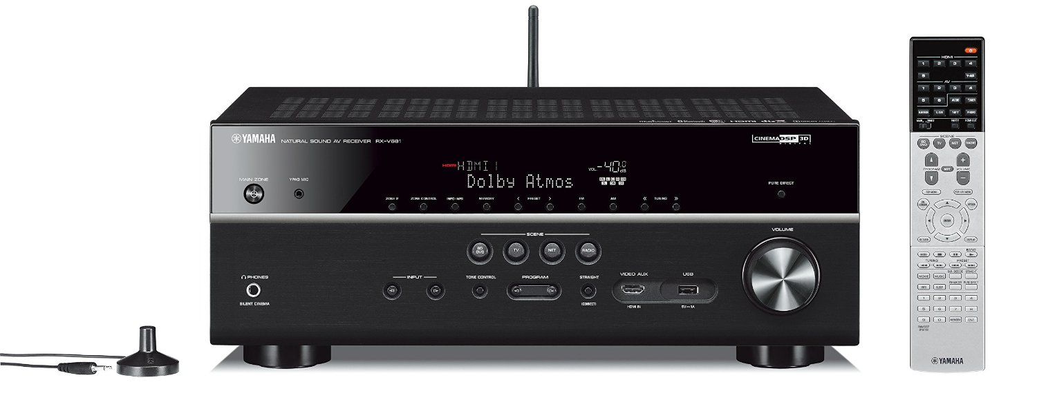 Yamaha Rx V681bl A V Receiver Review Features Design 25 Watt Power Amplifier Using Tda2009 Av