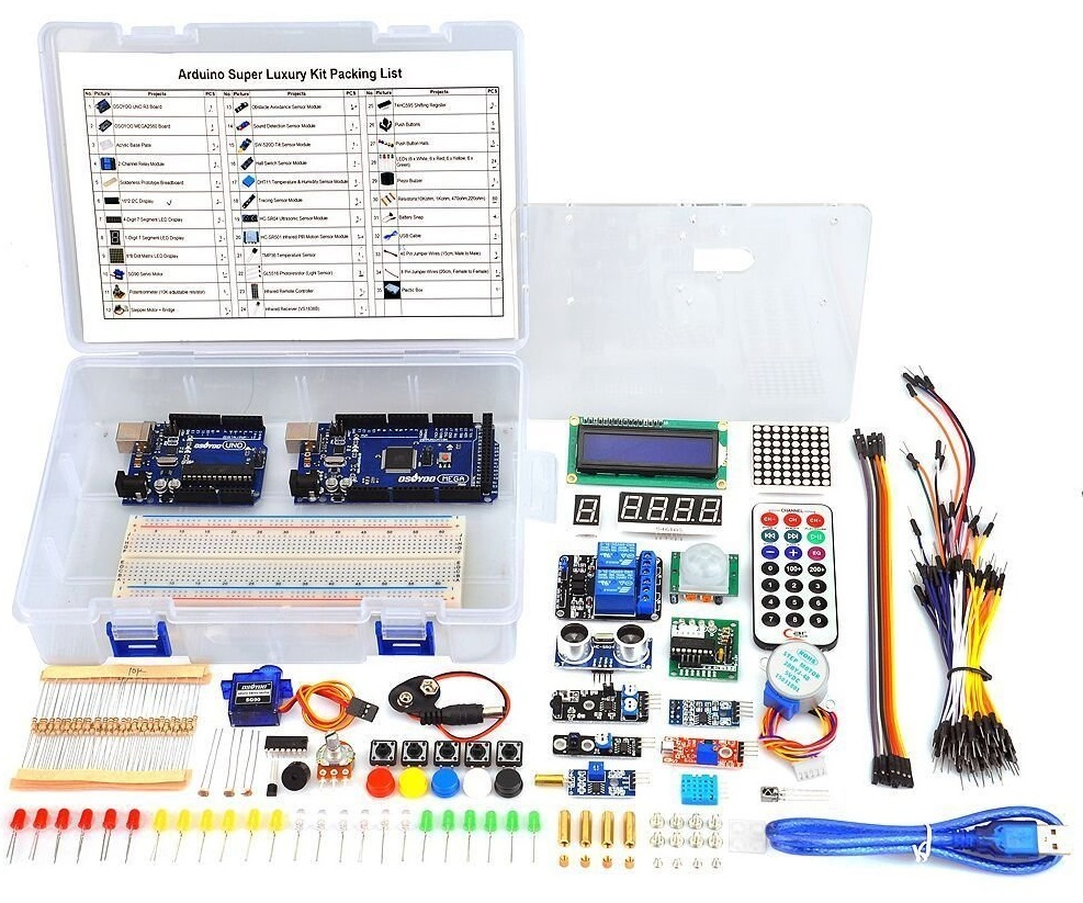 8 Best Arduino Starter Kit For Beginner Uno R3 Components Thermistor 10k Circuit Osoyoo Ultimate With Mega2560 And Board Projects