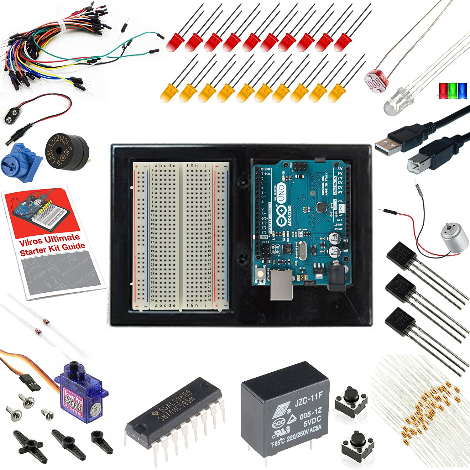 8 best arduino starter kit for beginner arduino uno r3 kit components 3 vilros arduino uno 3 ultimate starter kit publicscrutiny Image collections