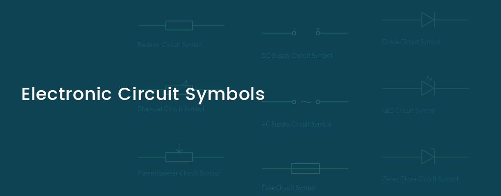 Electronic Circuit Symbols - Components and Schematic