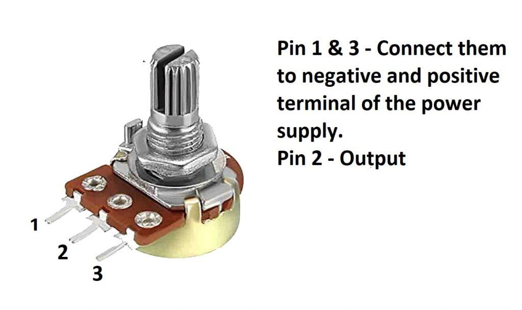Pin diagram of the Potentiometer